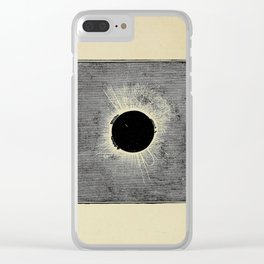 Elements of theoretical and descriptive astronomy (1901) - Total Eclipse, 1860 Clear iPhone Case