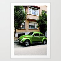 volkswagon Art Prints featuring Volkswagon.  by EmilyEtterPhotography