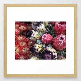 Chelsea Flower Market New York City Framed Art Print