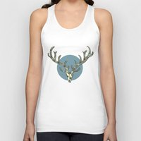 antlers Tank Tops featuring Antlers by Rachel Russell