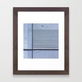 Concrete Stripe Blue Framed Art Print