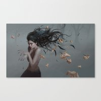 raven Canvas Prints featuring Raven by LauraSava