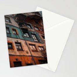 Hundertwasser museum Stationery Cards