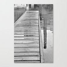 Down On The Dock Canvas Print