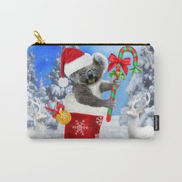 Baby Koala Christmas Cheer Carry-All Pouch