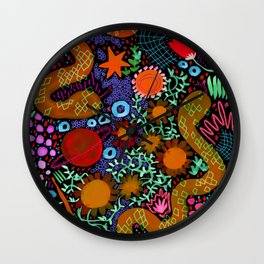 Two Snakes. Just Two Snakes. Wall Clock