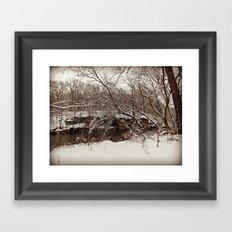 Snowy Creek View  Framed Art Print