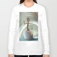 groot Long Sleeve T-shirts featuring Baby Groot by Cassandra Moonen