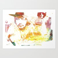 johnny depp Art Prints featuring Johnny Depp by Nechifor Ionut