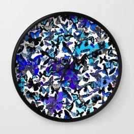 Borboletas Azuis  Wall Clock