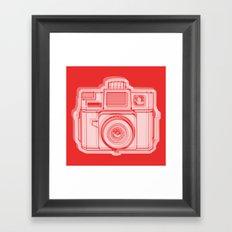 I Still Shoot Film Holga Logo - Reversed Red Framed Art Print