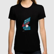Ming Wah Womens Fitted Tee SMALL Black