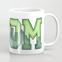 seahawks Mugs featuring Legion of Boom Seattle 12th Man Art by Olechka