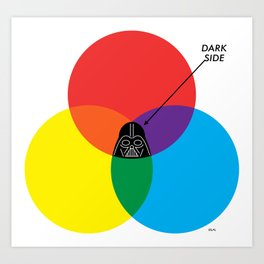 """Dark Side"" by ilovedoodle Art Print"