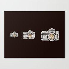 White Camera Canvas Print