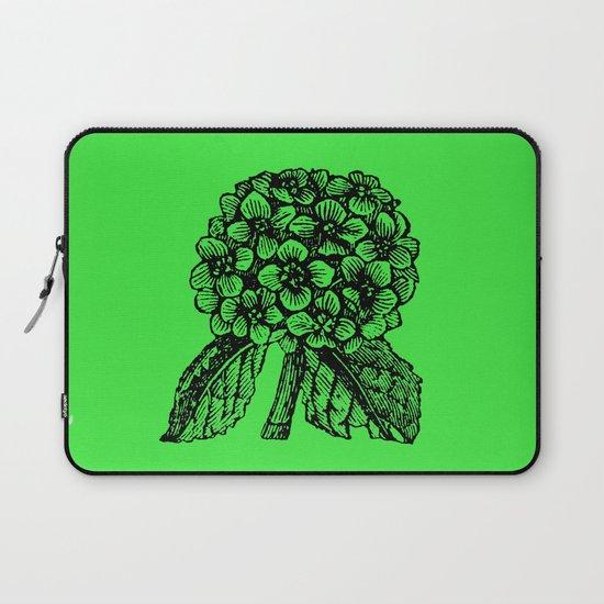 Green Hydrangea Laptop Sleeve