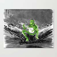 kermit Canvas Prints featuring Kermit by Stewart Cook