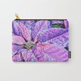 Poinsettia of Pink and Purple Carry-All Pouch