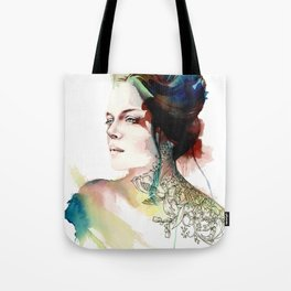 blossoming tattoos Tote Bag
