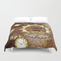 steampunk Duvet Covers featuring Steampunk  by nicky2342