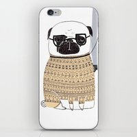 pug iPhone & iPod Skins featuring Pug  by Phillippa Lola
