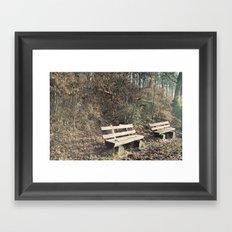 Strategically shaped logs Framed Art Print