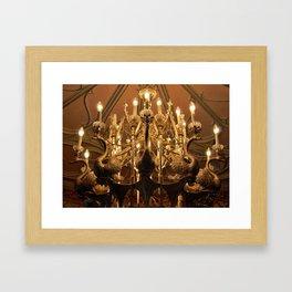 Swan Chandelier Framed Art Print