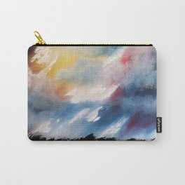 Moody Sunset, Dark Sunset, Abstract Sunset, Seascape, Sunscape, Skyscape Carry-All Pouch
