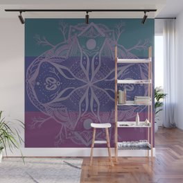 Mandala Drawing Wall Mural