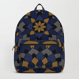 Blue & Bronze Floral Mandala Backpack
