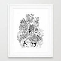 oasis Framed Art Prints featuring Oasis by KadetKat
