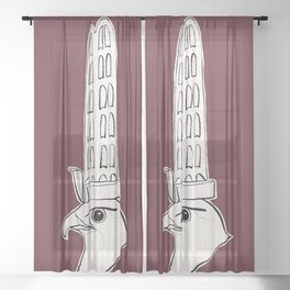 Horus falcon statue Sheer Curtain