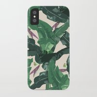 banana leaf iPhone & iPod Cases featuring Banana Leaf Pattern by Tamsin Lucie