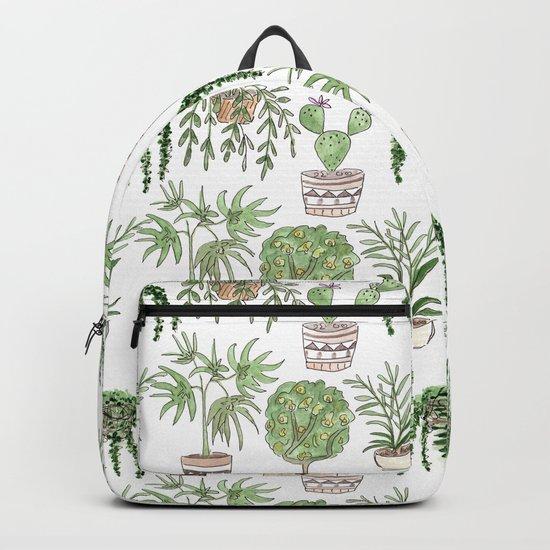 Watercolor . Plants . Backpack
