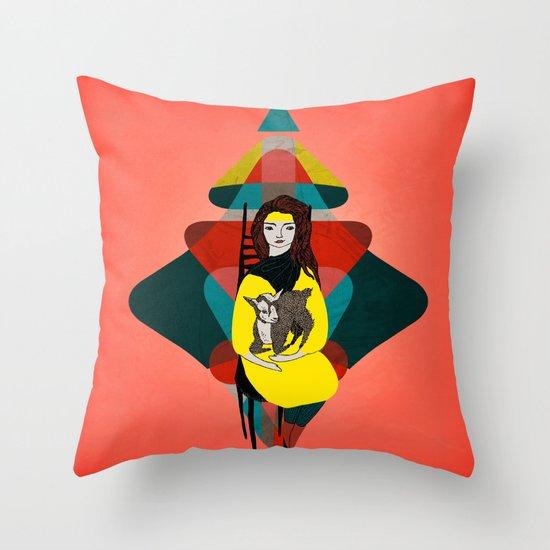Goat Herder 1 Throw Pillow