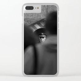 Almost Familiar Portrait Clear iPhone Case