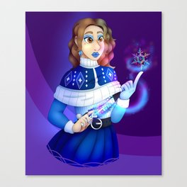 Witch in Winter Canvas Print