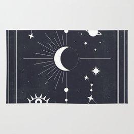 The Moon or La Lune Tarot Rug