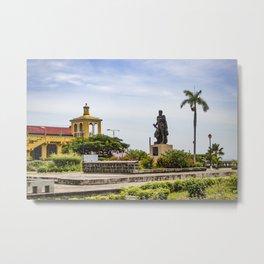 Statue of Cordoba by Lake Nicaragua in Granada Metal Print