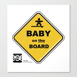 Baby on the board Canvas Print