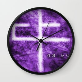 Abide Purple Wall Clock
