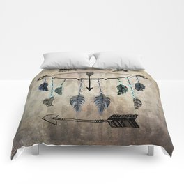 Bow, Arrow, and Feathers Comforters