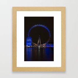 London Eye at night Framed Art Print