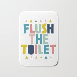 Flush the toilet bathroom print Bath Mat