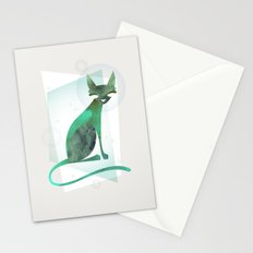 Mid-Century Feline Stationery Cards