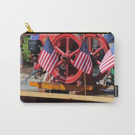 Flags on a Fire Truck Carry-All Pouch