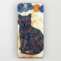 My blue cat.   iPhone & iPod Skin