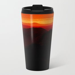 Red Horizon, Fire in the Distance. Travel Mug
