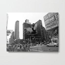 TDKR in NYC (B&W) Metal Print