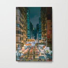 Mong Kok, Hong Kong Metal Print